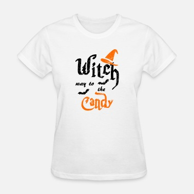 Witch Way Witch way to the Candy - Women's T-Shirt