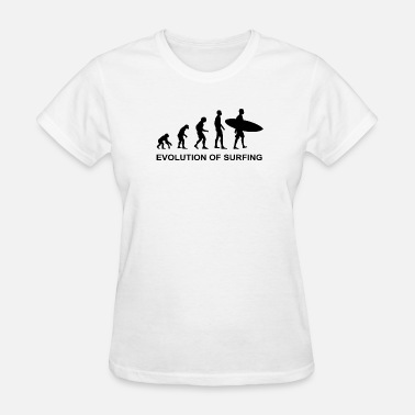 Xmas Surfing Evolution of Surfing - Women's T-Shirt