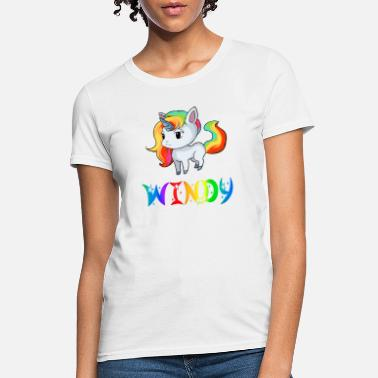 Windy Windy Unicorn - Women's T-Shirt