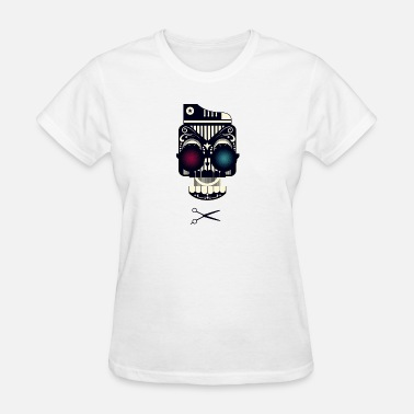 Dj Hardstyle Art Skull with shoe glass and scissors dope - Women's T-Shirt