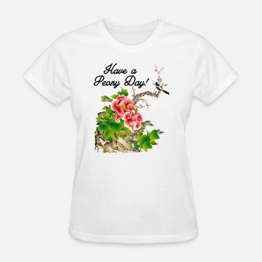 Pink Peony Flower Funny Peony - Colorful Bouquet Pink Flower Bloom - Women's T-Shirt
