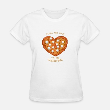 Lonely Hearts Club Pizza&Golf Anti Valentine's Day Gift - Women's T-Shirt