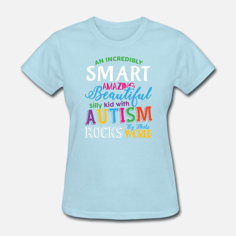 2baed75c7 Kid With Autism Rocks My Whole World T Shirt by Poca | Spreadshirt