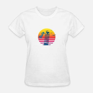 Italy Vintage Retro Vintage Italy Sunset, #Italy - Women's T-Shirt