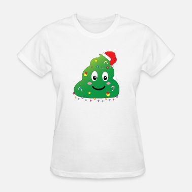 Party Poopers CHRITMAS FUNNY GIFT SANTA POOP TREE LIGHT CANDY - Women's T-Shirt