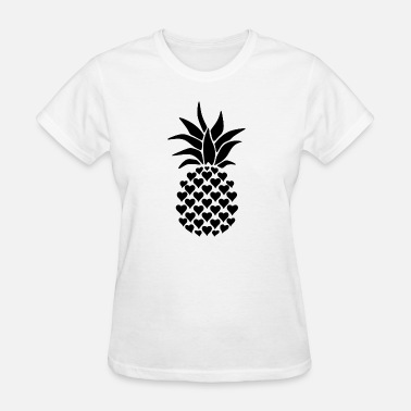 Gun Hawaii Pineapple hearts love psych dolman sleeve loose fi - Women's T-Shirt