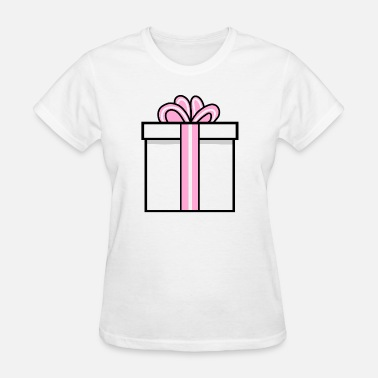 Surprise Box Present Gift Box Birthday Surprise White Pink - Women's T-Shirt