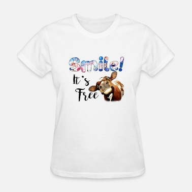 smile it is free animals cute cow - Women's T-Shirt