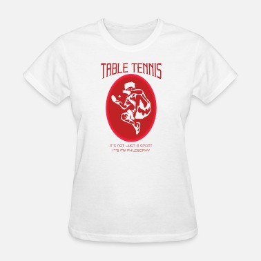 Funny Philosophy Tablet tennis Philosophy - Women's T-Shirt