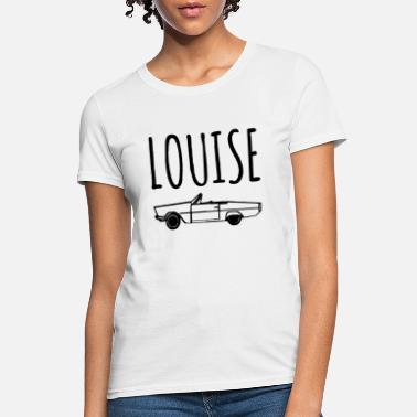 Louise Thelma and Louise CAR image Set of Unisex Grey tri - Women's T-Shirt