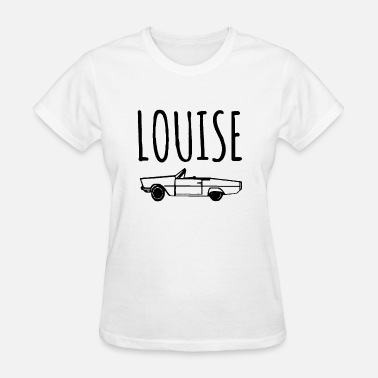 Feminist-plus-size Thelma and Louise CAR image Set of Unisex Grey tri - Women's T-Shirt