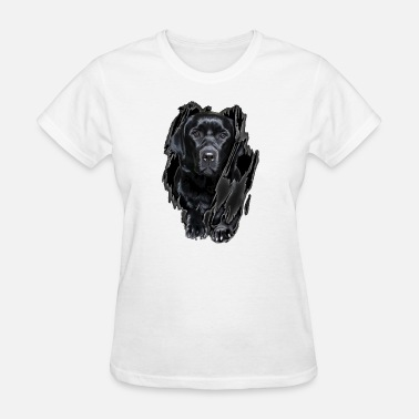 Labrador Inside Black Dog animals dog - Women's T-Shirt