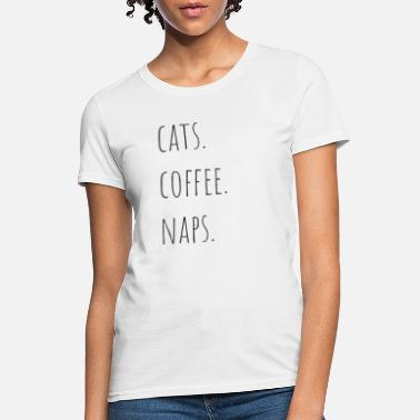 0a24f4818e Unisex Baseball T-Shirt. Perzzzian Cat. from $31.49. Cats Coffee Naps cute  Cat love Design - Women's ...