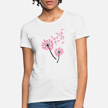 Awareness World Breast cancer Awareness Dandelion Awesome T - Women's T-Shirt