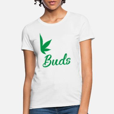 Marijuana Leaf Couple Top Best Buds funny Pot Smokers  T-Shirt All sizes