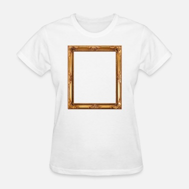 Antique Golden Picture Frame - Women's T-Shirt