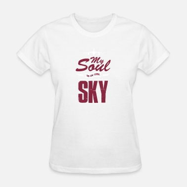 Backpacker Crew Pilot travel sky gift - Women's T-Shirt