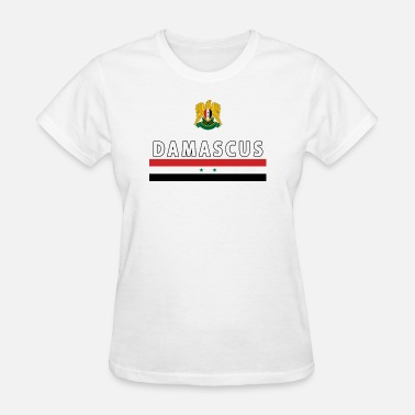 Syrian Girl Damascus City Syrian National Jersey Style Sport - Women's T-Shirt