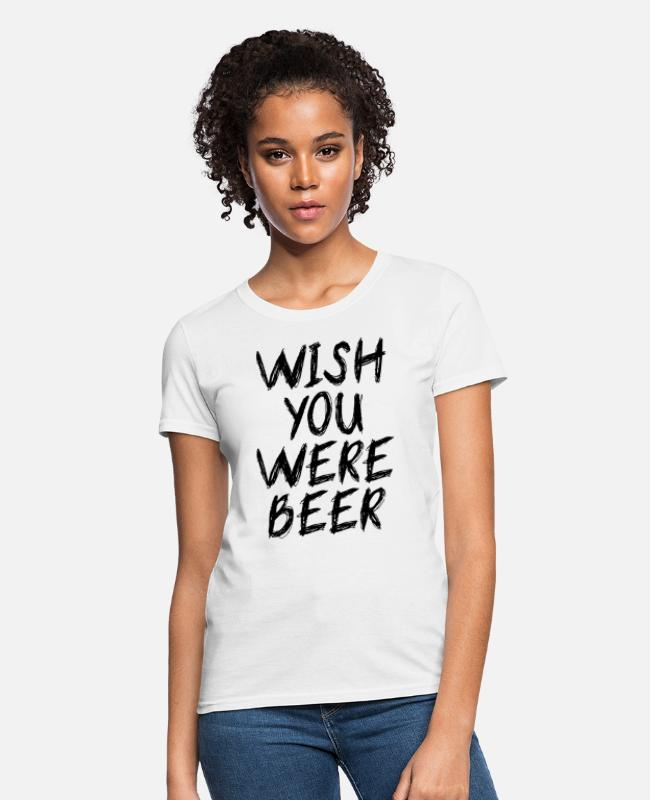 Jessie Pinkman T-Shirts - wish you were beer - Women's T-Shirt white