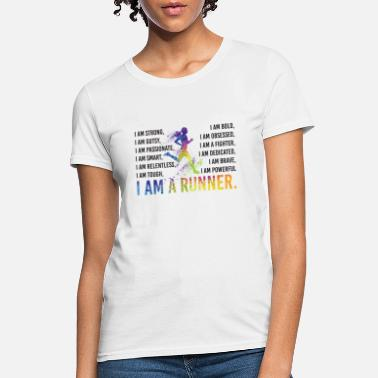 Lady Liberty I Am A Runner Funny Running Lady Gift - Women's T-Shirt
