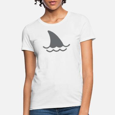 Shark Fin Logo Shark Fin And Waves - Women's T-Shirt