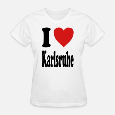 Karlsruhe I love Karlsruhe (variable colors!) - Women's T-Shirt