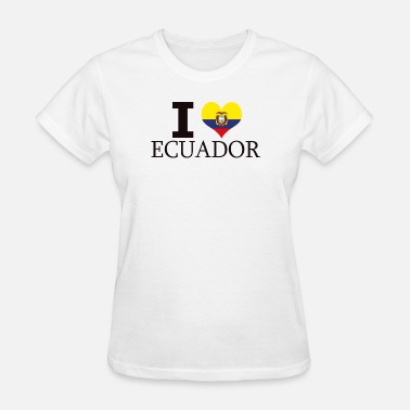 Flags Latin I HEART LOVE ECUADOR ECUADORIAN LATIN AMERICA GIFT - Women's T-Shirt