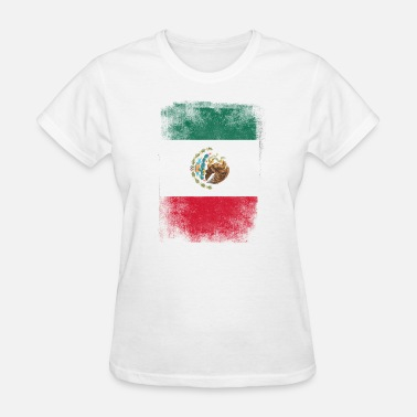 Mexican Flag Mexico Flag Proud Mexican Vintage Distressed - Women's T-Shirt