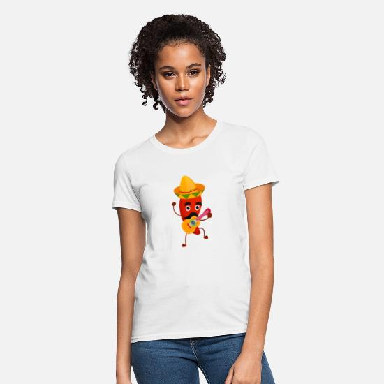 Food Chain T-Shirts - Mexican Chili Pepper - Women's T-Shirt white