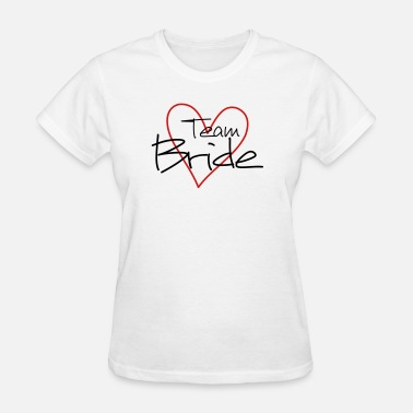 Wedding Shower Team Bride heart wedding shower - Women's T-Shirt