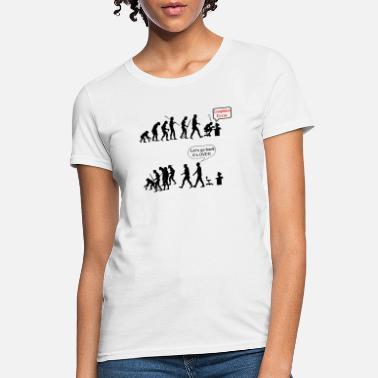 a6d5e0e84061 human evolution as a geek - Women's T-Shirt
