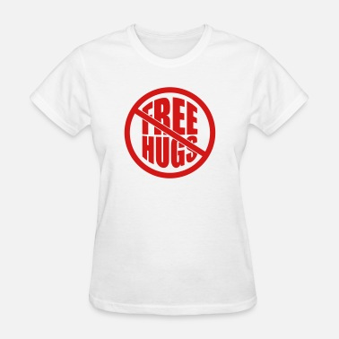 Affix note affixed note paper free hugs free hugs funny - Women's T-Shirt