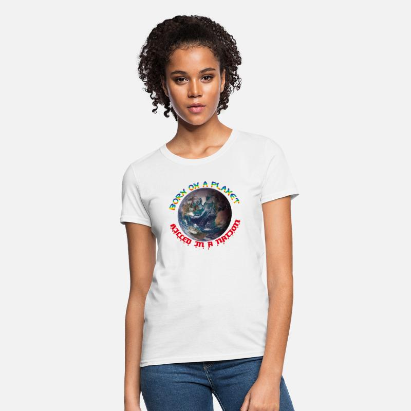 National T-Shirts - EARTHLING - Women's T-Shirt white