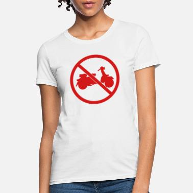 Logo forbidden sign no scooter zone clip art driving el - Women's T-Shirt