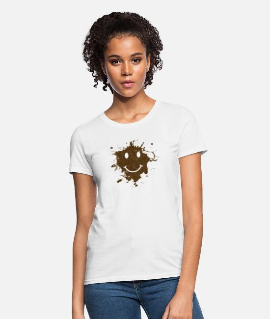 Wheel T-Shirts - Mud Siley - Women's T-Shirt white