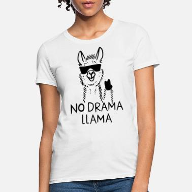 Cute Design No Drama Llama - Women's T-Shirt