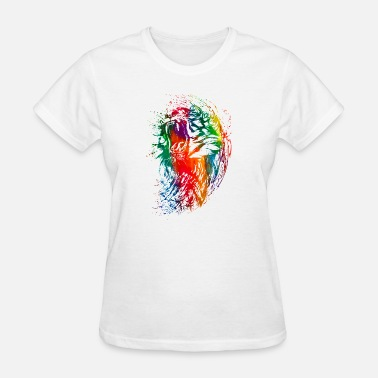 Neon Splash watercolor tiger colorful neon - Women's T-Shirt
