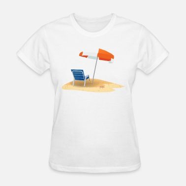 Sun Bathing bathing holiday beach sun swimming relaxing gift - Women's T-Shirt