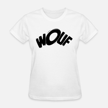 Bow Wow Wouf! Wuff! Dog Barking Bark Bay Woof bow-wow gift - Women's T-Shirt