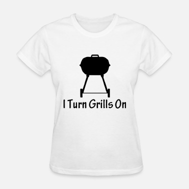 Welder Ugly Christmas I Turn Grills On Mens Ringer Dad Fathers Day Gift - Women's T-Shirt