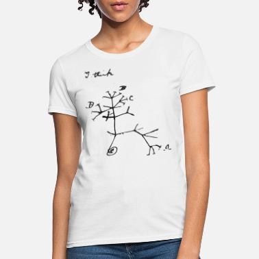 Darwin Darwin I Think Tree (black) - Women's T-Shirt