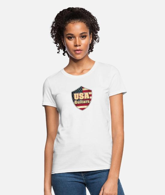 Heart T-Shirts - USA guitars - Women's T-Shirt white
