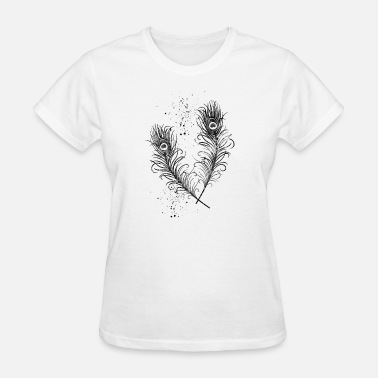 Peacock-feather Peacock Feathers - Women's T-Shirt