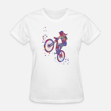 Mountain Biking Art Mountain biking, mountain bike, sport - Women's T-Shirt