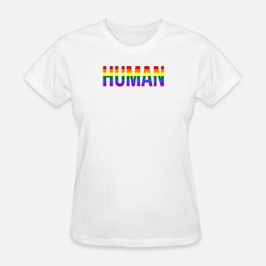 Ally We are all Human LGBT Gay Pride Lesbian CSD Queer - Women's T-Shirt