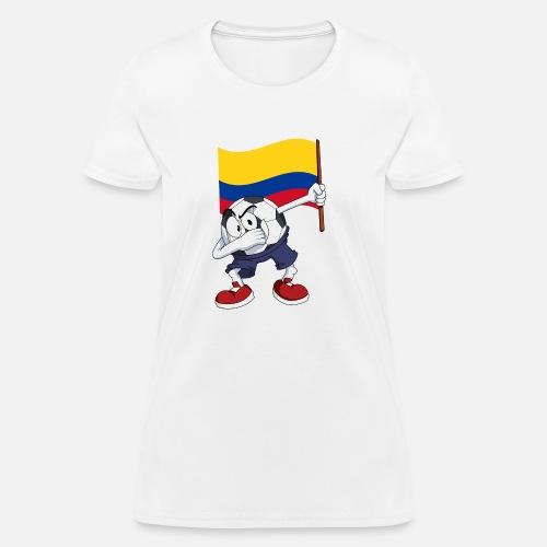 dd64aef11 Colombia Dabbing Soccer Ball Women s T-Shirt