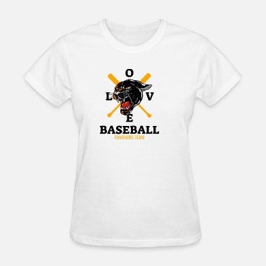 Panther Baseball Love Baseball Panthers Team - Women's T-Shirt