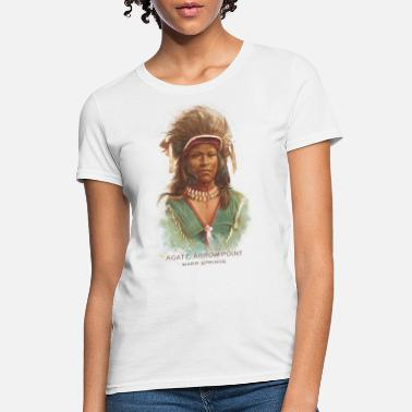 Native American Historical Art Agate Arrow Point - Women's T-Shirt