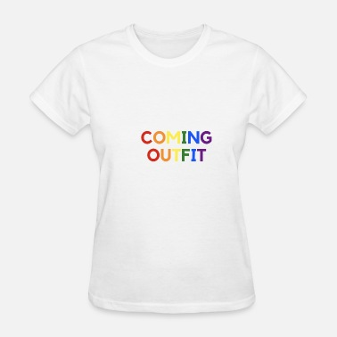 Out And Proud Coming Out Day Gay lgbt proud pride homosexual - Women's T-Shirt