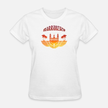 Marrakech Marrakech Palace with Palms / Gift North Africa - Women's T-Shirt
